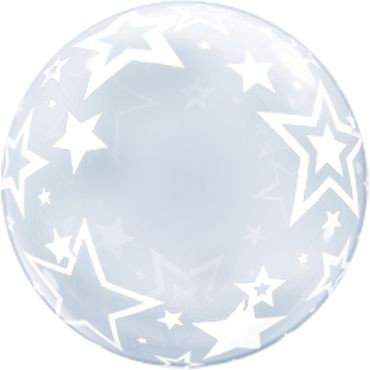 "Qualatex Bubbles Deco Bubble Stylish Stars 60cm/24"""