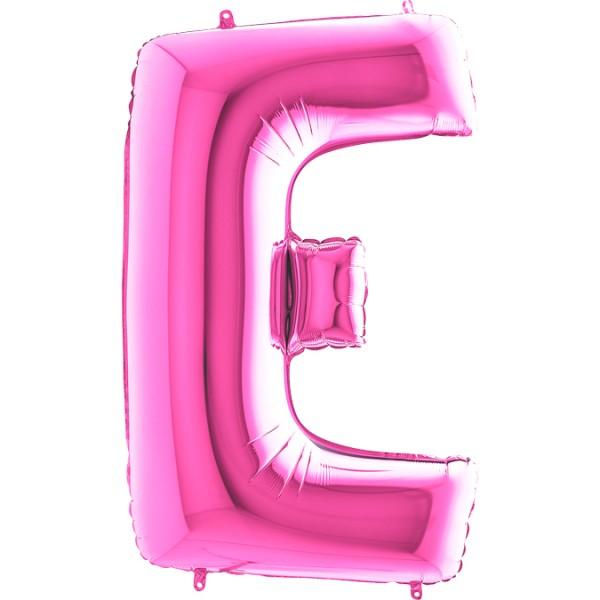"""Grabo Folienballon Buchstabe E Fuxia 100cm/40"""""""