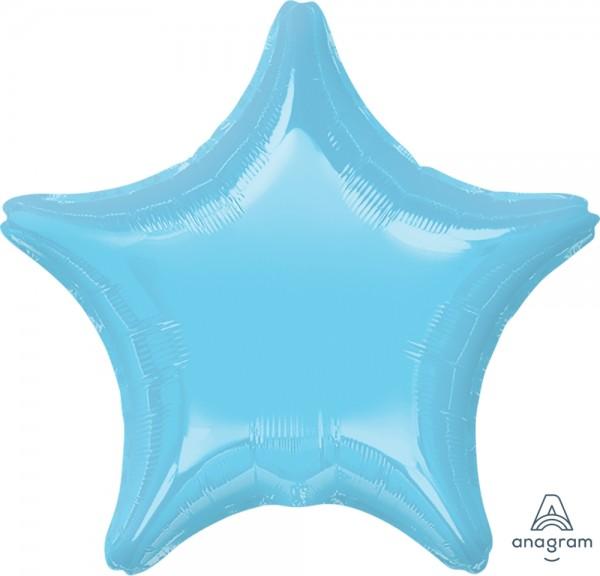 "Anagram Folienballon Stern Iridescent Pearl Lite Blue 50cm/20"""