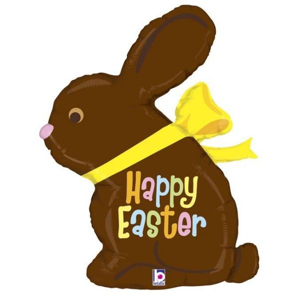 "Betallic Folienballon Chocolate Easter Bunny 100cm/39"""
