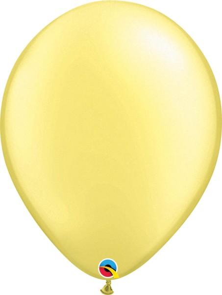 "Qualatex Latexballon Pastel Pearl Lemon Chiffon 40cm/16"" 50 Stück"