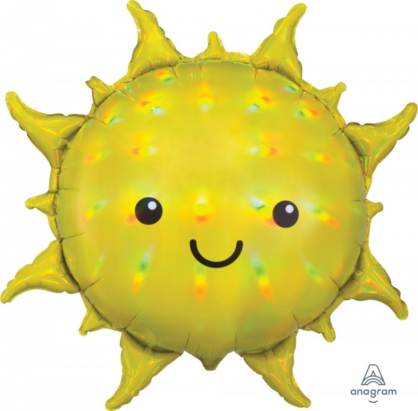 Anagram Folienballon Super Shape Iridescent Sun Yellow Holo 68cm/27""