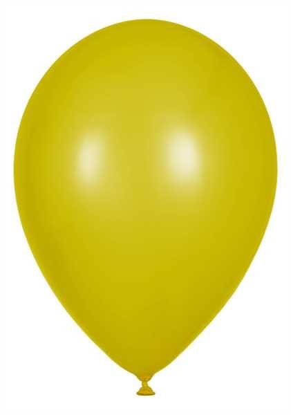 Metallic Luftballons, Gelb, 30cm Ø, 100 Stück
