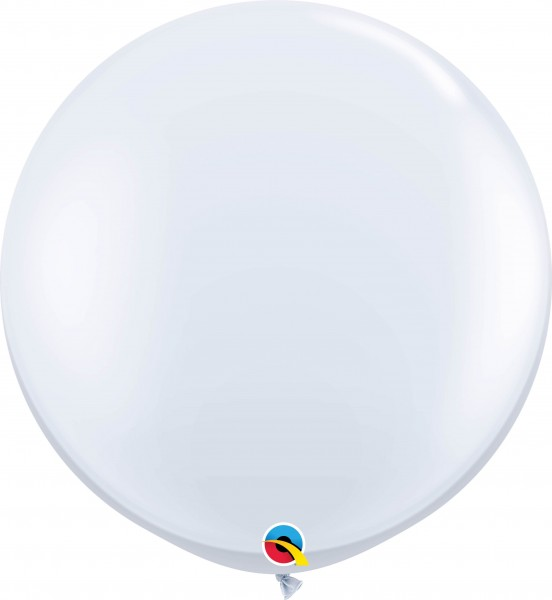 Qualatex Latexballon Standard White 90cm/3' 2 Stück
