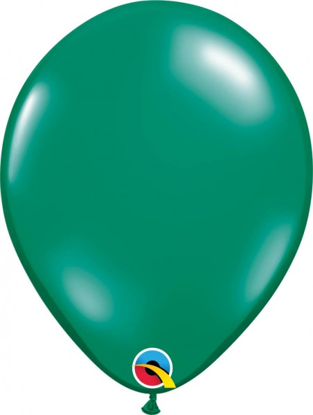 "Qualatex Latexballon Jewel Emerald Green 28cm/11"" 100 Stück"