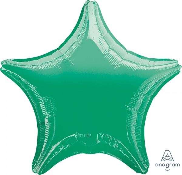 "Anagram Folienballon Stern Metallic Green 50cm/20"""