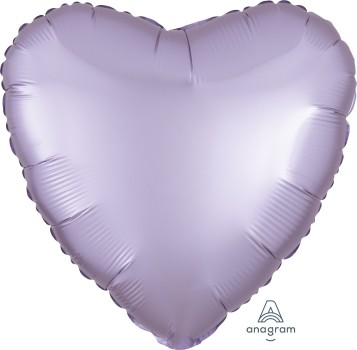 Anagram Folienballon Herz 45cm Durchmesser Satin Luxe Pastell Lila (Pastel Lilac)