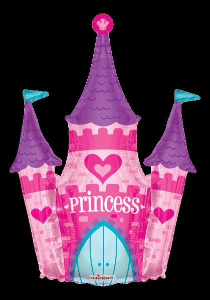"""Kaleidoscope Folienballon XXL """"Princess - Pinkes Schloss"""" 90cm/36"""""""