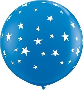 "Qualatex Latexballon Standard Contempo Stars Dark Blue 90cm/36"" 2 Stück"