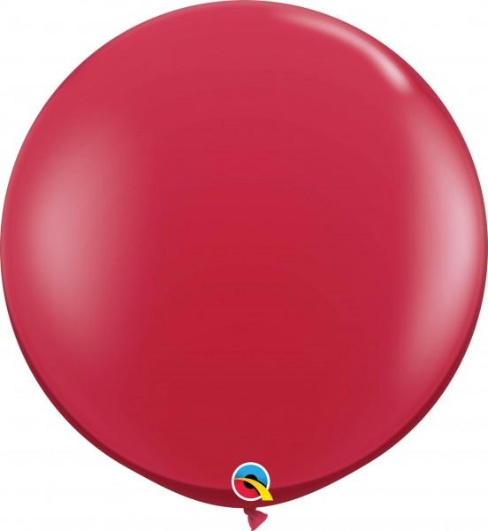 Qualatex Latexballon Jewel Ruby Red 90cm/3' 2 Stück