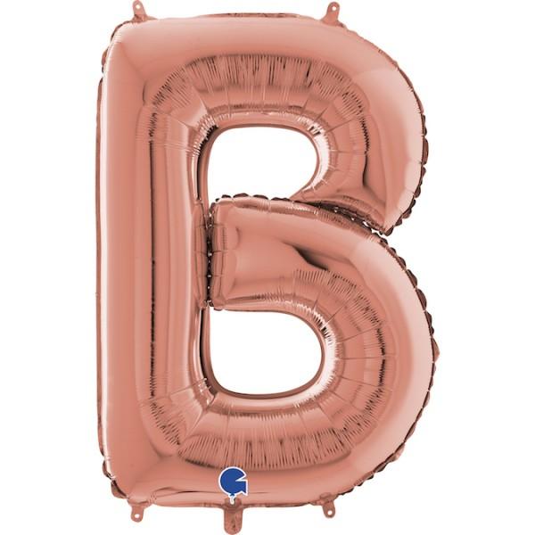 """Grabo Folienballon Buchstabe B Rose Gold 100cm/40"""""""