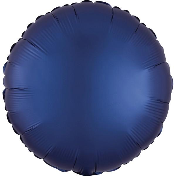 "Anagram Folienballon Rund Satin Luxe Navy 45cm/18"""