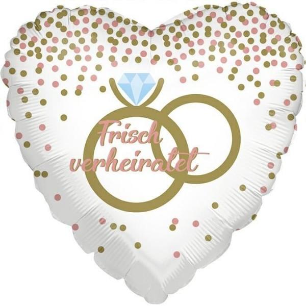 "Grabo Folienballon Frisch verheiratet Ring 45cm/18"""