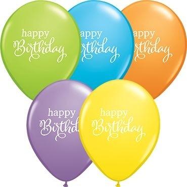 "Qualatex Latexballon Simply Happy Birthday Bright Pastel Assortment 28cm/11"" 25 Stück"