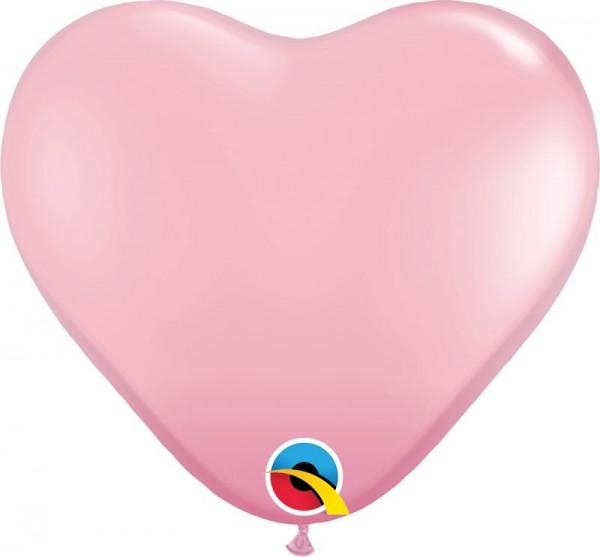 """Qualatex Latexballon Standard Pink Heart 28cm/11"""" 100 Stück"""