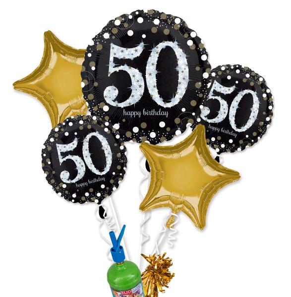 "Folienballon Helium Set ""50. Geburtstag"""