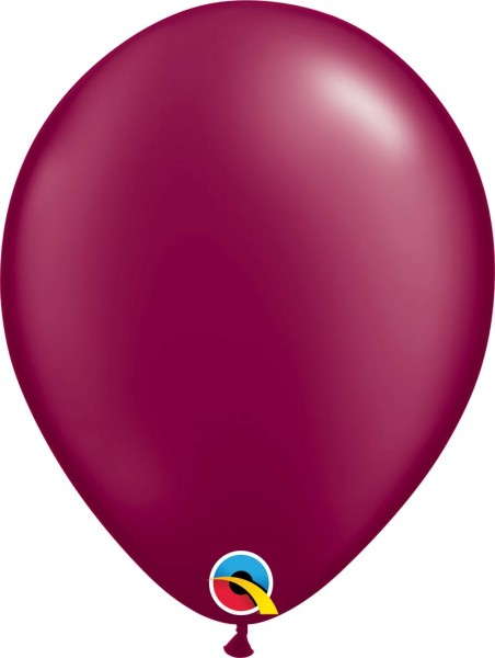 "Qualatex Latexballon Radiant Pearl Burgundy 28cm/11"" 100 Stück"