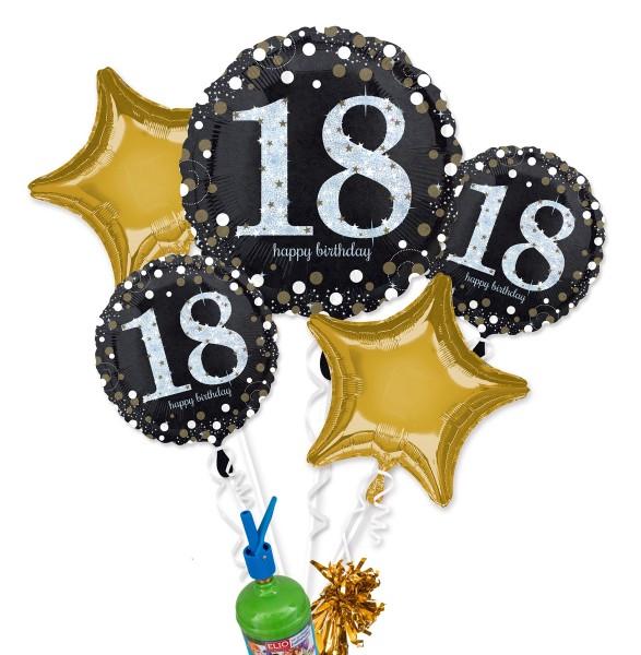"Folienballon Helium Set ""18. Geburtstag"""
