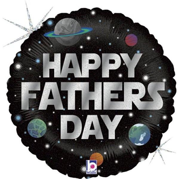 "Betallic Folienballon Happy Fathers Day Holo 46cm/18"""