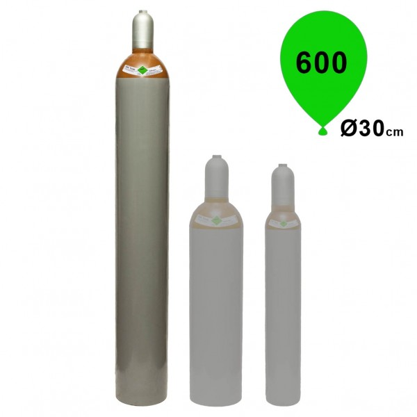 Ballongas Helium 50L Mietflasche 9,2m³