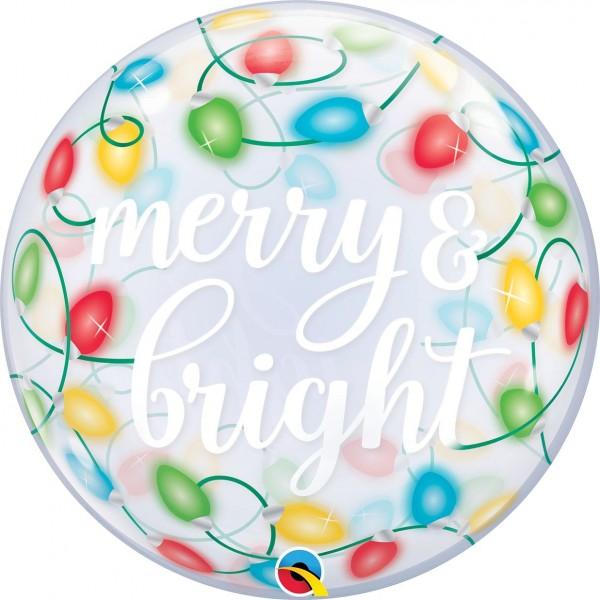 "Qualatex Bubbles Merry & Bright Lights 55cm/22"""