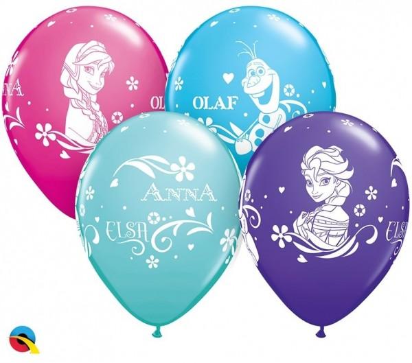 """Qualatex Latexballon Anna, Elsa & Olaf 28cm/11"""" 25 Stück"""