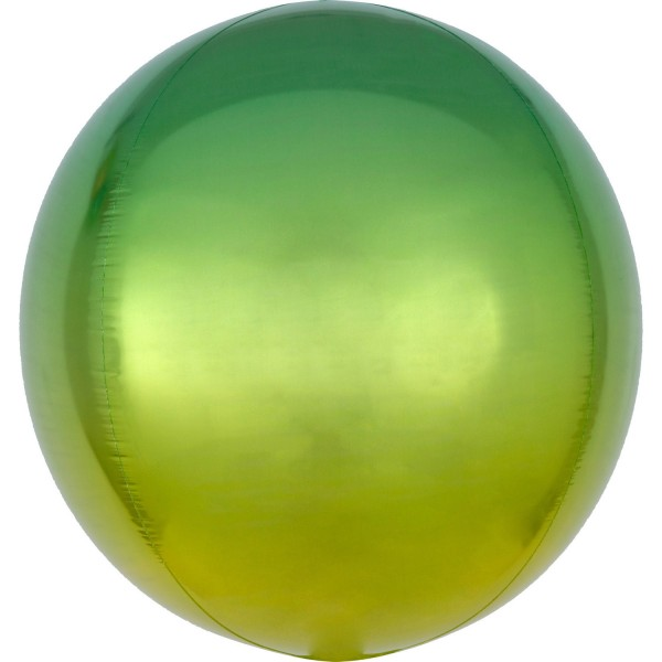 "Anagram Folienballon Orbz Ombré Yellow & Green 40cm/16"""