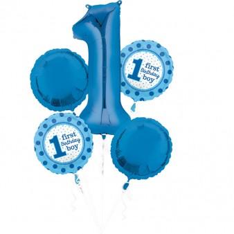 "Anagram Ballon Party Set ""1. Geburtstag Jungs"""