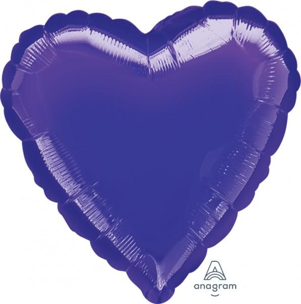 "Anagram Folienballon Jumbo Herz Metallic Purple 80cm/32"""