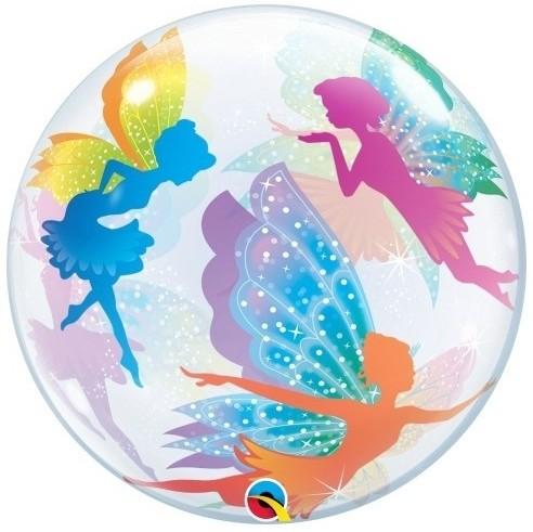 "Qualatex Bubbles Magical Fairies & Sparkles 55cm/22"""