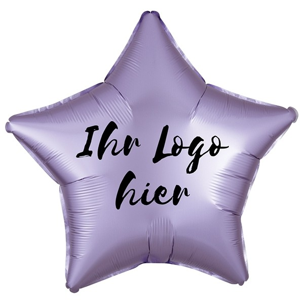 "Folien-Werbeballon Stern Satin Luxe Pastel Lilac 50cm/20"" 1-Seitig bedruckt"