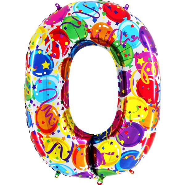 "Grabo Folienballon Party 100cm/40"" Zahl"