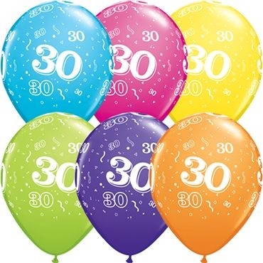"Qualatex Latexballon 30-A-Round Tropical Assormnet 28cm/11"" 25 Stück"