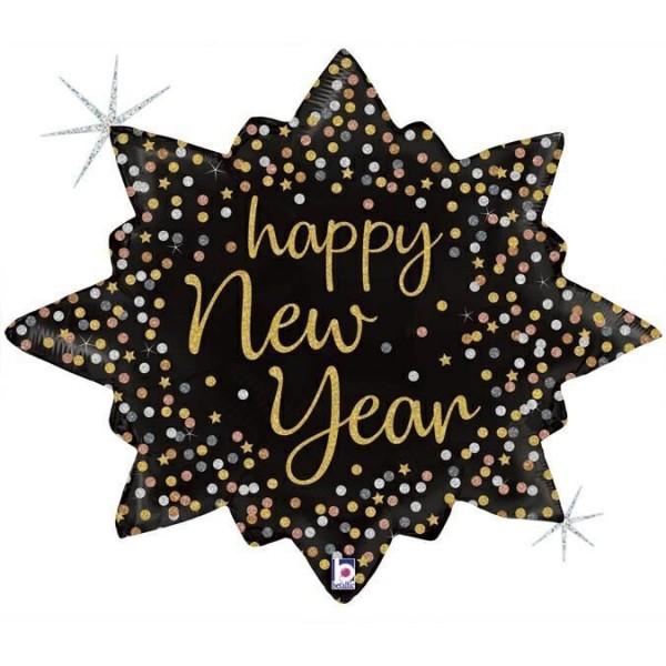 "Betallic Folienballon New Year Confetti Burst 80cm/32"""