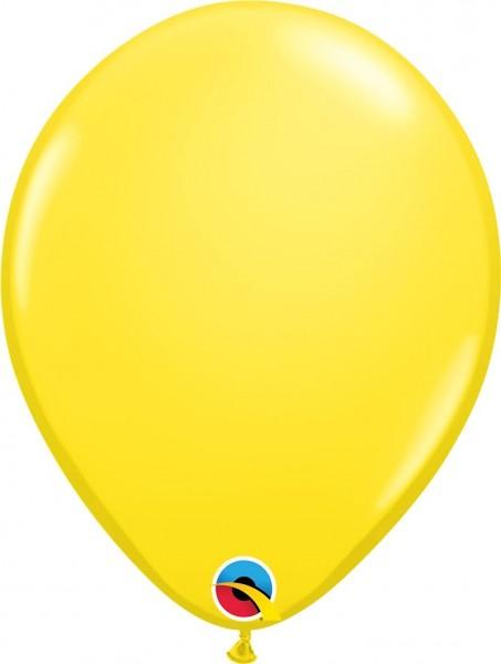 "Qualatex Latexballon Yellow 28cm/11"" 6 Stück"