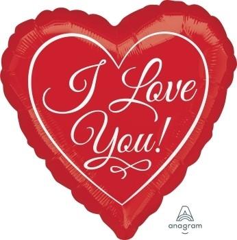 "Anagram Folienballon Herz I Love You Rot 45cm/18"""