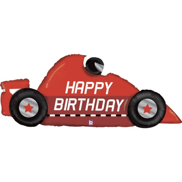Betallic Folienballon Race Car Birthday 142cm/56""