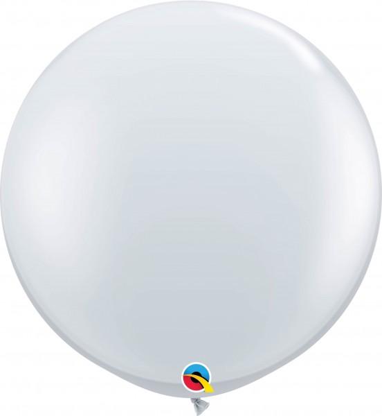 Qualatex Latexballon Jewel Diamond Clear 90cm/3' 2 Stück