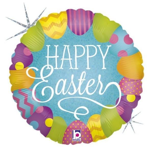 "Betallic Folienballon Easter Egg Hunt Holo 45cm/18"""