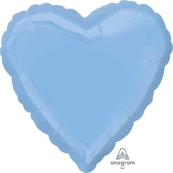 "Anagram Folienballon Herz Hellblau (Pastel Blue) 45cm/18"""