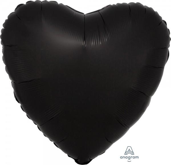 "Anagram Folienballon Herz Satin Luxe Onyx 45cm/18"""