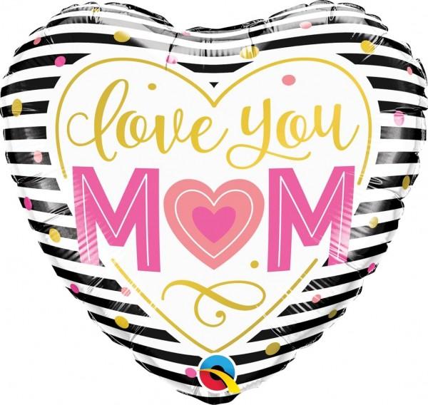 "Qualatex Folienballon ""Love you Mom"" 46cm/18"""