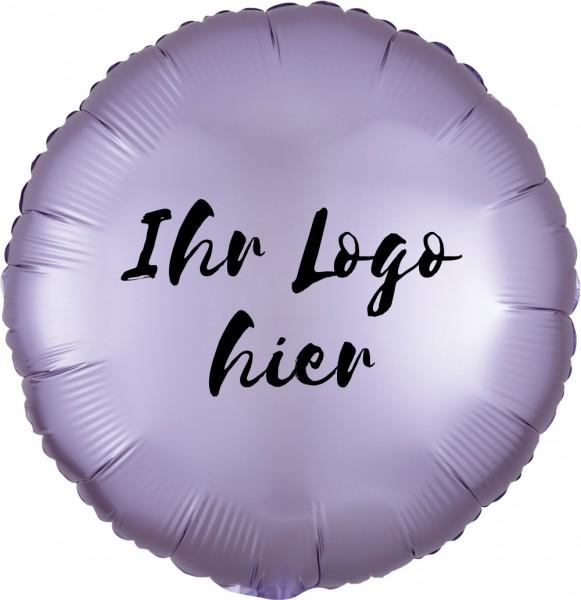 """Folien-Werbeballon Rund Satin Luxe Pastel Lilac 45cm/18"""" 1-Seitig bedruckt"""