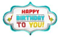 "Northstar Folienballon Birthday Dotty Frame 71cm/28"""