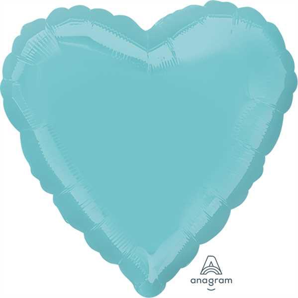 "Anagram Folienballon Herz Mittelgrün (Robins Egg Blue) 45cm/18"""