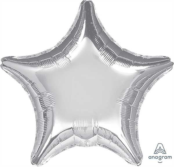 "Anagram Folienballon Stern Metallic Silber (Metallic Silver) 32"""