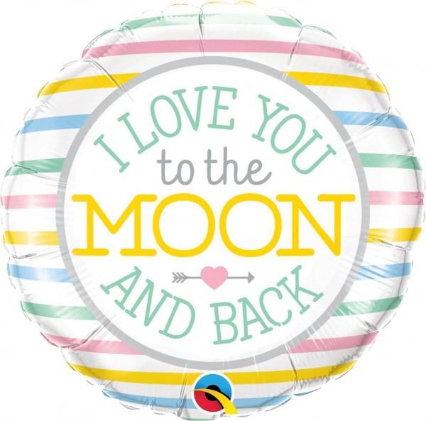 "Qualatex Folienballon I Love you to the Moon 46cm/18"""