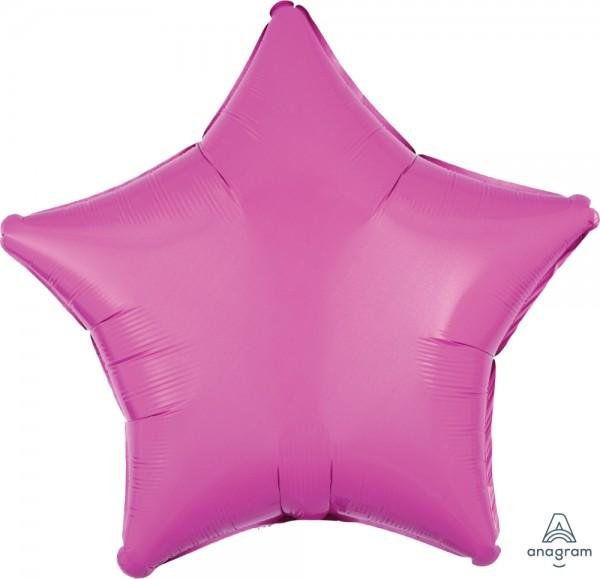 "Anagram Folienballon Stern Bright Bubble Gum Pink 50cm/20"""