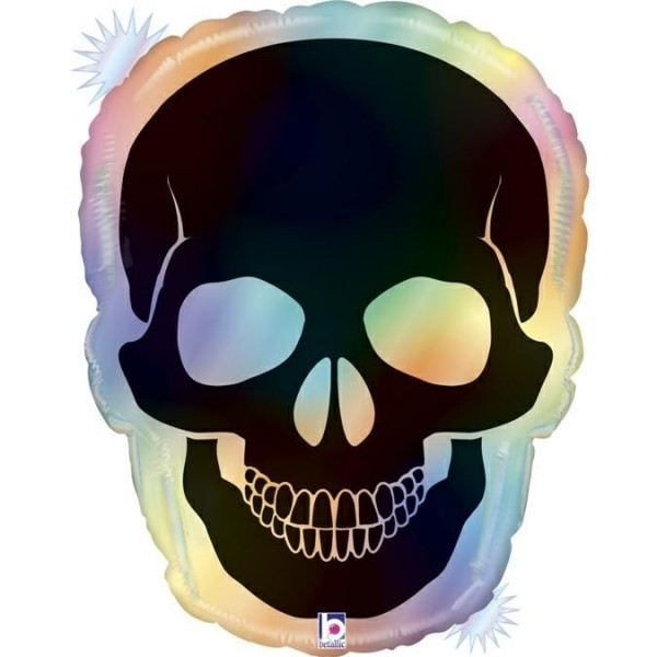 "Betallic Folienballon Opal Skull 69cm/27"""