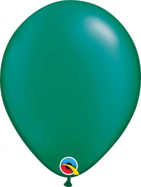 "Qualatex Latexballon Radiant Pearl Emerald Green 28cm/11"" 100 Stück"